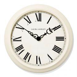 gran reloj de pared de diseño clásico en color crema y manecillas negras