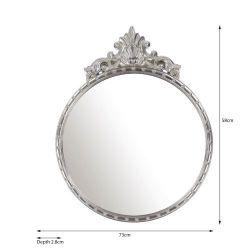 espejo de diseño rococó plata para pared