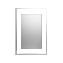 espejo rectangular de diseño con marco