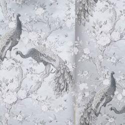 papel pintado Belvedere plata metálico