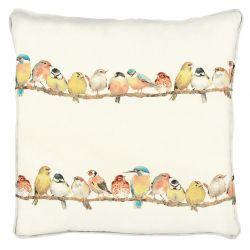 tela con pájaros estampados de diseño ideal para confeccionar cortinas, estores, cojines, manteles, o dar rienda suelta a tu cre