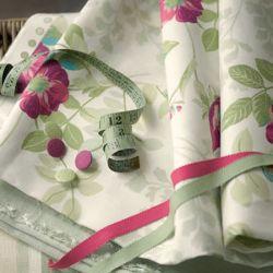 tela de flores rosas de diseño para cortinas y estores