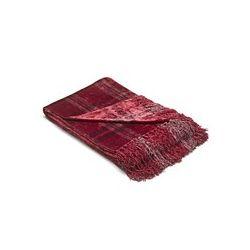 manta de diseño de cuadro clásico en viscosa color frambuesa
