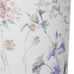 pantalla estampada con flores silvestres de colores