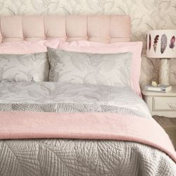 dos fundas de almohada lisas algodón percale 200 hilos rosa maquillaje con volante