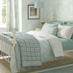 sábana bajera azul verdoso algodón 400 hilos