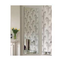 espejo de suelo de diseño con marco espejado biselado