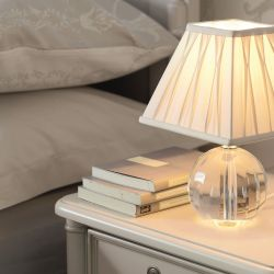 pequeña base de lámpara de cristal redonda de diseño