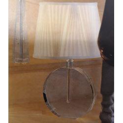 base de lámpara de cristal de diseño de disco plano
