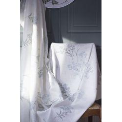 tela estampada con flores azules de diseño para cortinas y estores