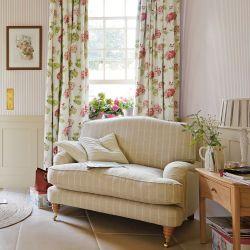 tela de geranios rojos para cortinas y estores de diseño