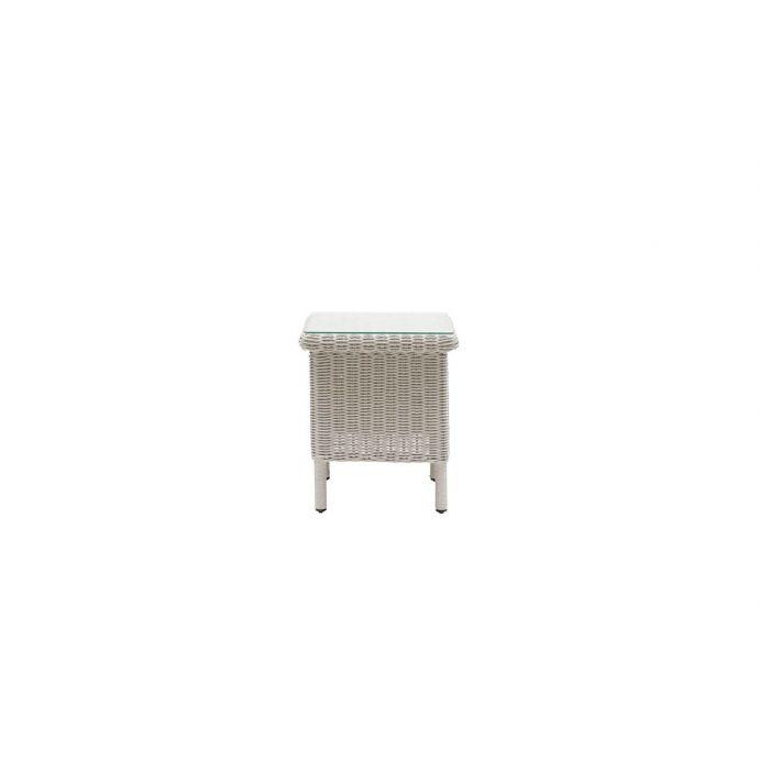 mesa de ratán blanco vintage de diseño exclusivo