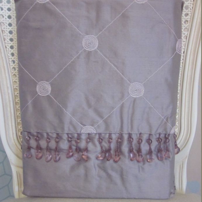 cortinas confeccionadas en seda lucille malva