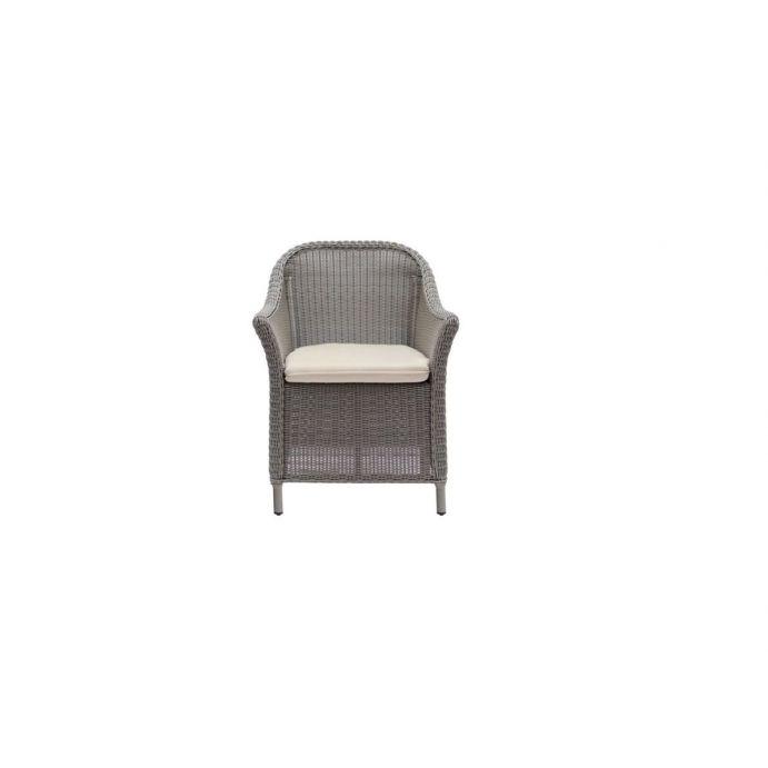 silla de ratán para mesa de comedor con textiles de diseño ideal para jardín