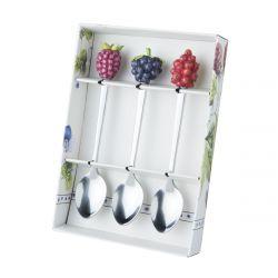 3 cucharillas de té en caja Marjo