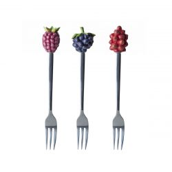 3 tenedores de postre en caja Marjo