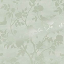 Papel Pintado Eglantine Silhouette Verde Eau de Nil