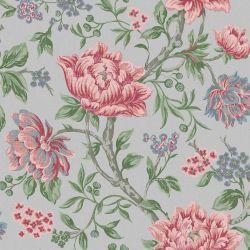 Papel Pintado Tapestry Floral Gris Pizarra