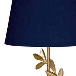 lámpara de mesa Archer dorado con pantalla azul