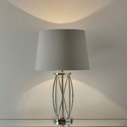base de lámpara Beckworth Petite níquel