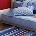 sábana bajera ajustable gingham azul