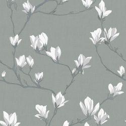 Papel Pintado Magnolia Grove Slate