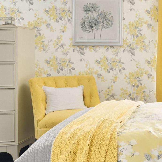 Papel Pintado Apple Blossom Amarillo Amanecer