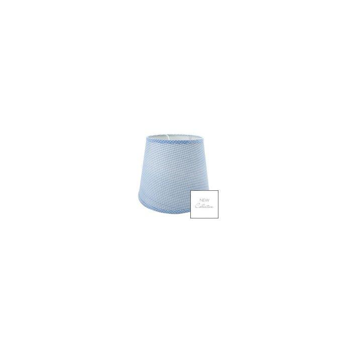 pantalla cuadriculada de techo gingham azul