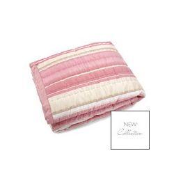 colcha rebecca stripe seda rosa