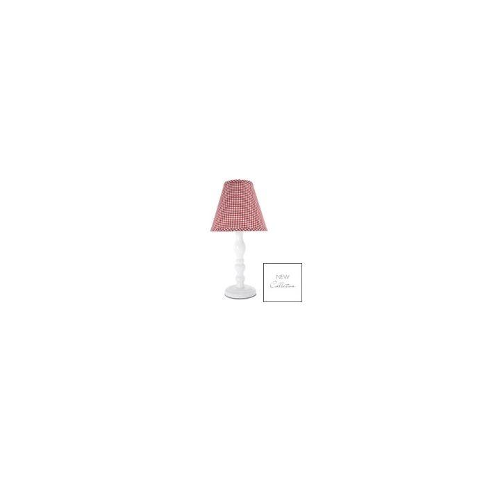 lámpara completa gingham rojo