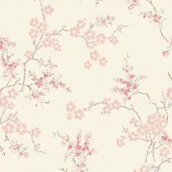 Papel Pintado Oriental Blossom Rosa Maquillaje