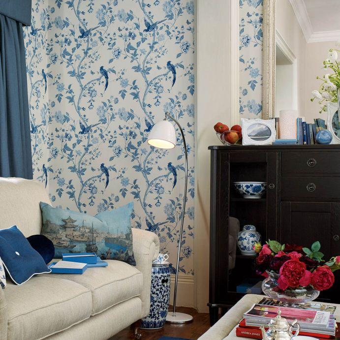 Papel Pintado Summer Palace Royal Blue