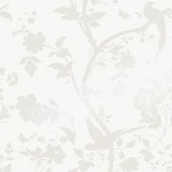 Papel Pintado Oriental Garden Perlado Blanco