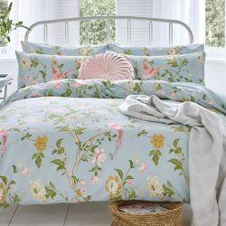 Set de cama Summer palace azul verdoso