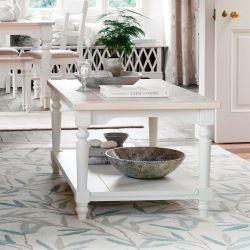 mesa de café Dorset blanco