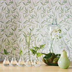 Papel Pintado Willow Leaf Verde Seto