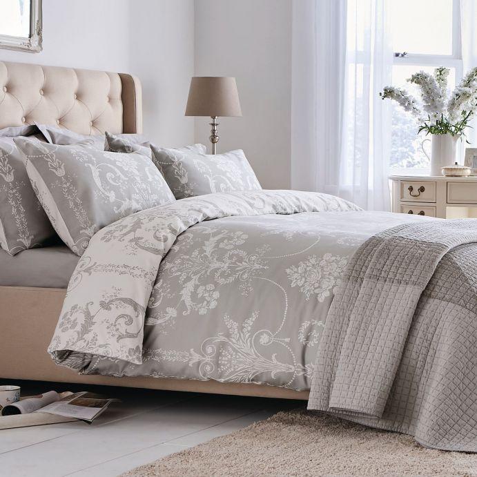 set de cama Josette gris claro