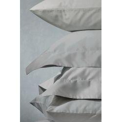 2 fundas de almohada gris acero 400 hilos