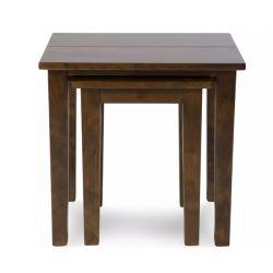 juego de mesas anidadas garrat castaño oscuro