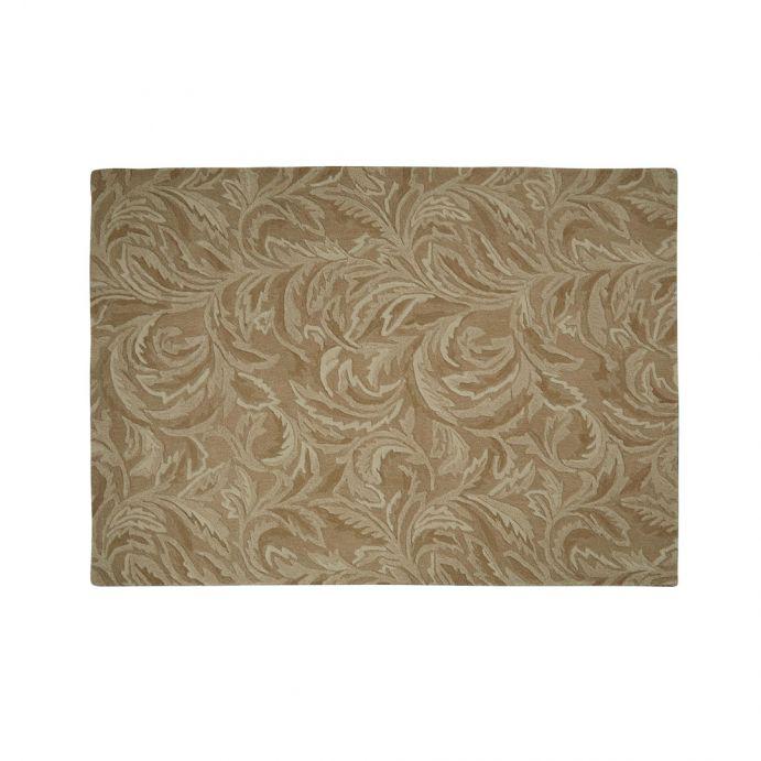 alfombra de lana de fabricación artesanal en color natural con relieve