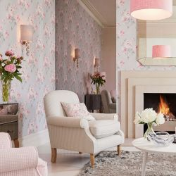 Papel pintado beatrice rosa ciclamen