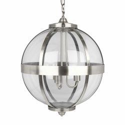 lámpara de techo Odiham níquel x3