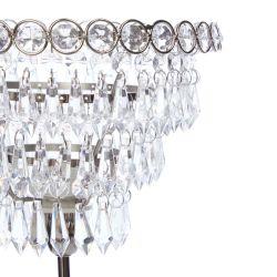 lámpara de mesa con original pantalla de lágrimas de cristal de diseño clásico
