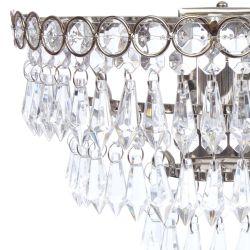 aplique de pared de diseño, con estilo de lágrimas de cristal colgantes en pirámide invertida