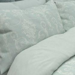 funda nórdica Josette jacquard azul verdoso