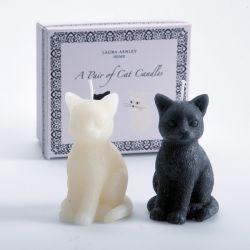 juego de 2 velas a modo de gato