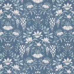 tela Parterre azul mar oscuro para tapizar