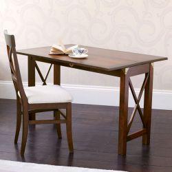 consola - mesa comedor Balmoral castaño