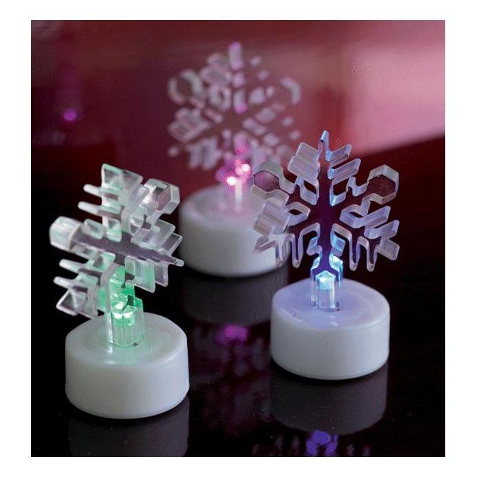 juego de 3 copos de nieve luminosos