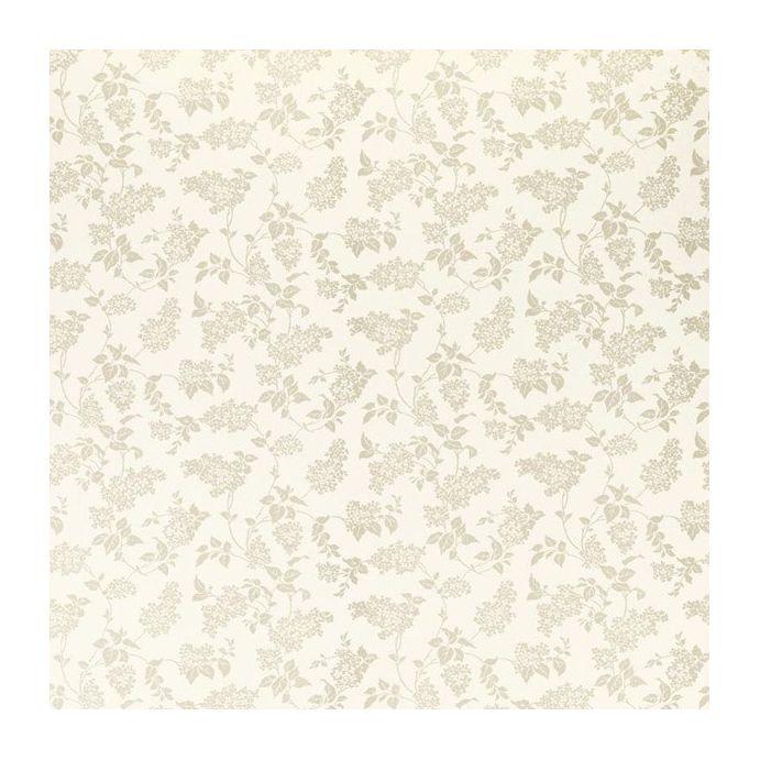 papel pintado en tonos naturales cremas con pequeñas hojas silueteadas